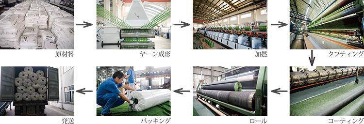 人工芝の生産工程