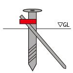 異径クランプを使ったスクリュー杭の基礎強度アップのために。