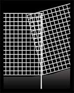 傾斜地にも設置できるメッキフェンス