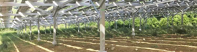 営農型 太陽光発電アルミ架台(シェアリング)